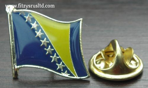 Bosnia and Herzegovina Flag Lapel Hat Cap Tie Pin Badge    New
